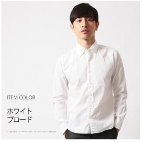 ザ カジュアル (アップスケープオーディエンス) Upscape Audience 日本製シャーリングボタンダウンシャツ メンズ ホワイト系2 L 【THE CASUAL】