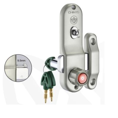 757 青葉牌 鋁門鎖 1200型鋁門鉤鎖(鎖管長38mm AT鎖匙)十字鑰匙 推拉門鎖