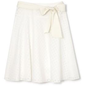 NATURAL BEAUTY 《Purpose》ダイヤオパールスカート ひざ丈スカート,ホワイト4