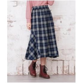 スカート ロング丈 マキシ丈 大きいサイズ レディース チェック柄 ロング  L〜10L ニッセン