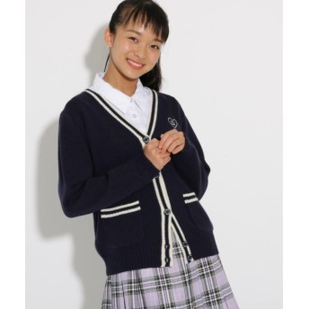 ピンク ラテ(ティーン) ニットカーディガン レディース ネイビー(093) 16(S160cm) 【PINK latte (Teen)】