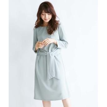 【ジャージーシリーズ】ウエストリボンカットソーワンピース (ワンピース)Dress, 衣裙, 連衣裙