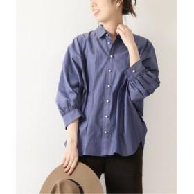 (Spick & Span/スピック&スパン)パールボタンギャザーシャツ◆/レディース ブルーベース