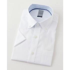 【SALE(三越)】<LORDSON/ロードソン> 半袖色ドビーワイシャツ(ZON613-200)(MO019N0MO00000GIN) 200シロ 【三越・伊勢丹/公式】