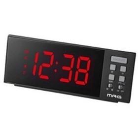 ノア USBポート付LED目覚し時計 T-738BK