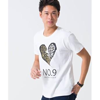 (SILVER BULLET/シルバーバレット)CavariA【キャバリア】国産セレブリティプリント半袖Tシャツ/メンズ ホワイト