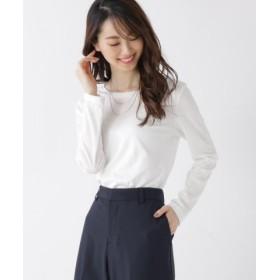 (Sofuol/ソフール)コットンスムースクルーネックTシャツ/レディース ホワイト(001)