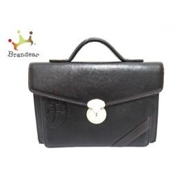 カステルバジャック Castelbajac ハンドバッグ 黒 型押し加工 レザー 新着 20190827