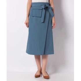 イェッカ ヴェッカ ポケットデザインAラインスカート レディース ブルー F 【YECCA VECCA】