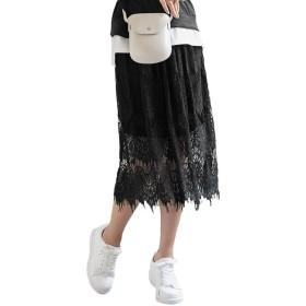 【10%OFF】 神戸レタス レーススカート [M2522] レディース ブラック ワンサイズ(M) 【KOBE LETTUCE】 【タイムセール開催中】