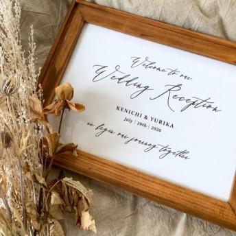 《モノトーン》カリグラフィー ウェディング 結婚式 ウェルカムボード
