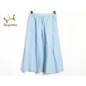 マーガレットハウエル MargaretHowell スカート サイズ1 S レディース 美品 ライトブルー 麻 新着 20190827