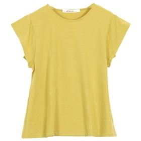 (KOBE LETTUCE/神戸レタス)シルケット加工フレンチスリーブTシャツ [C3692]/レディース イエロー