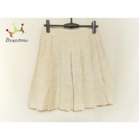 ドゥーズィエム スカート サイズ38 M レディース 美品 アイボリー×ベージュ プリーツ/ラメ   スペシャル特価 20191130