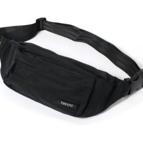 (REAL STYLE/リアルスタイル)フロントファスナーポケット撥水ウエストバッグ/レディース ブラック