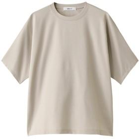 ebure エブール 超長綿スーピマコットン クルーネックTシャツ ライトベージュ