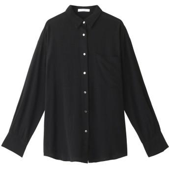 SALE 【60%OFF】 ROSE BUD ローズバッド とろみシャツブラウス ブラック