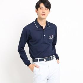 [マルイ] 【吸水速乾】胸ポケット付きストライプ長袖ポロシャツ/アダバット(メンズ)(adabat(Mens))