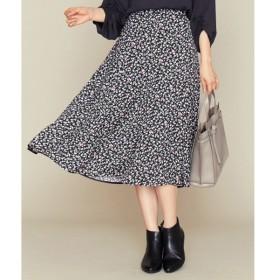 組曲 / クミキョク 【洗える】レトロフラワープリント スカート