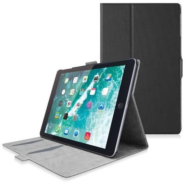 エレコム ELECOM iPad (第6世代) フラップカバー ソフトレザーケース スリープモード対応 フリーアングル ブラック TB-A18RWVFUBK