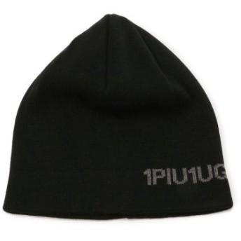 (RoyalFlash/ロイヤルフラッシュ)1PIU1UGUALE3 RELAX/ウノ ピゥ ウノ ウグァーレ トレ リラックス/ロゴニットキャップ/メンズ BLACK