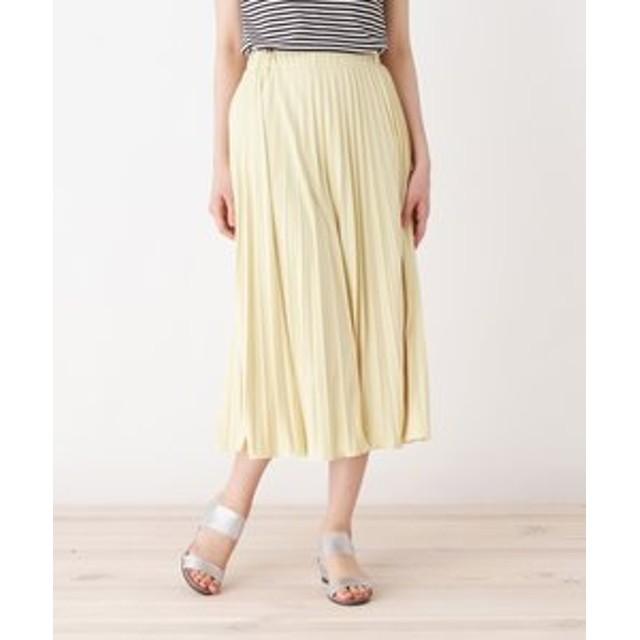 SALE開催中【pink adobe:スカート】◆スムース プリーツスカート