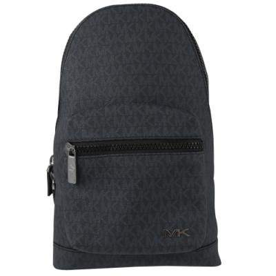 MICHAEL KORS COOPER 經典PVC拉鍊單肩後背包(藍黑)