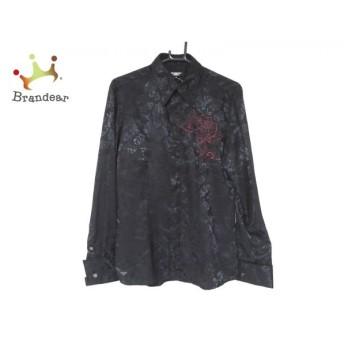 トルネードマート TORNADO MART 長袖シャツ サイズM メンズ 美品 黒×ボルドー 刺繍/花柄 新着 20190827