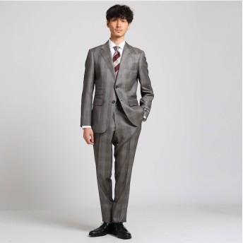 【タケオキクチ/TAKEO KIKUCHI】 グレンチェック スーツ Fabric by DORMEUIL