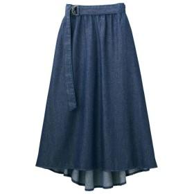 GeeRA フィッシュテールデニムフレアースカート ブルー M レディース 5,000円(税抜)以上購入で送料無料 フレアスカート 夏 レディースファッション アパレル 通販 大きいサイズ コーデ 安い おしゃれ お洒落 20代 30代 40代 50代 女性 スカート