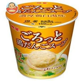 【送料無料】明星食品 ごろっと鶏だんごスープ 濃厚鶏白湯味 24g×24(6×4)個入