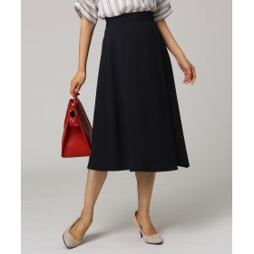 UNTITLED(アンタイトル) イレギュラーヘムミモレラップ風スカート