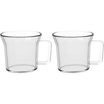《CreativeTops》寬口玻璃濃縮咖啡杯2入(70ml)