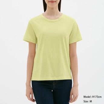 (GU)カラークルーネックT(半袖) YELLOW XS