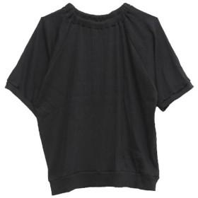 [マルイ] リブカットソーギャザーネック五分袖プルオーバー/ハッピーマリリン(大きいサイズ)(AHAPPYMARILYN)