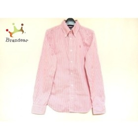 ラルフローレン RalphLauren 長袖シャツ サイズ4 XL メンズ 美品 ピンク×白 ストライプ 新着 20190827