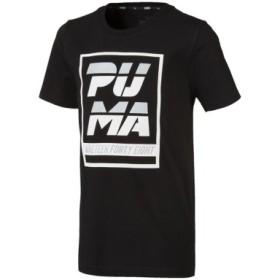(SPORTS AUTHORITY/販売主:スポーツオーソリティ)プーマ/キッズ/ALPHA SS グラフィック Tシャツ/レディース ブラック