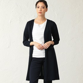 <TO BE CHIC/TO BE CHIC> 【ウォッシャブル】コットンアセテートロングカーディガン(W5F17283__) アオ 【三越・伊勢丹/公式】