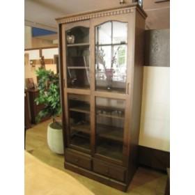 書棚 カップボード 飾り棚 本棚  おしゃれ 木製  北欧 アンティーク 飾棚 天然木 無垢 ナラ無垢
