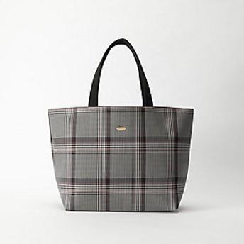【ブルーレーベル・クレストブリッジ 】グレンチェック&フラワートートバッグ