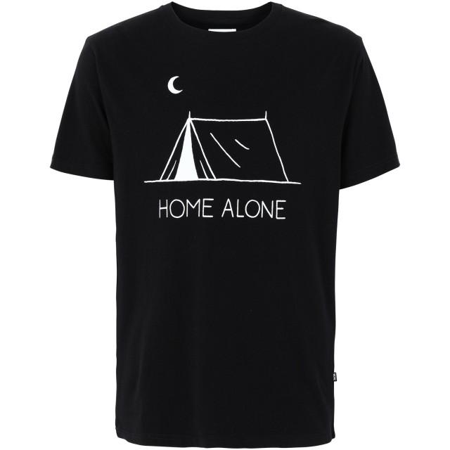 《セール開催中》WOOD WOOD メンズ T シャツ ブラック S コットン 100% HOME ALONE