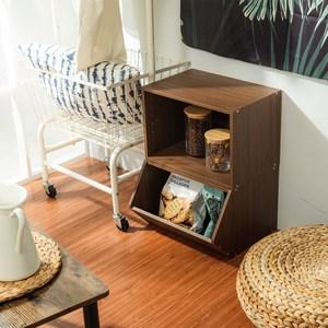 樂嫚妮 收納櫃 玩具空櫃-2入組-淺胡桃木色空櫃&玩具櫃-淺胡桃木色