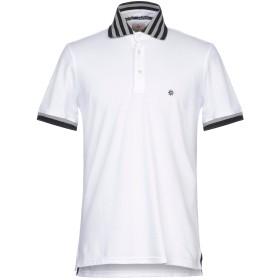 《セール開催中》BAGUTTA メンズ ポロシャツ ホワイト M コットン 94% / ポリウレタン 6%
