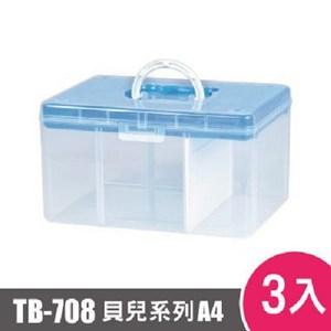 樹德SHUTER FUN貝兒手提箱(A4)TB-708 3入藍