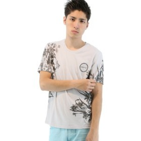 【semantic design:トップス】ヒートチェンジロゴクルーネック半袖Tシャツ