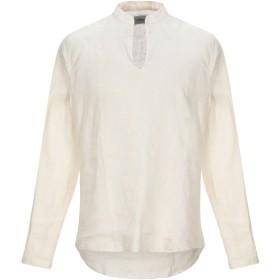 《期間限定セール開催中!》GRAN SASSO メンズ シャツ ベージュ M 麻 100%