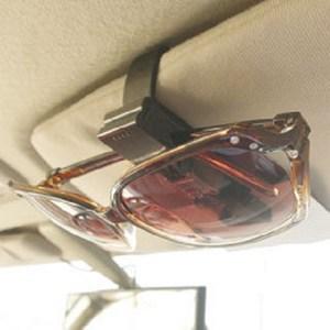 車用時尚眼鏡夾票卡夾黑色