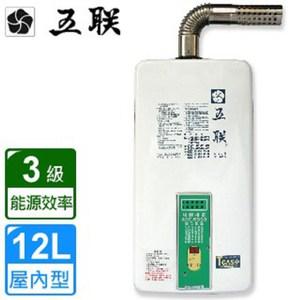 【五聯】ASE-5993屋內大廈型數位恆溫熱水器(12L)-天然瓦斯
