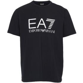 《セール開催中》EA7 メンズ T シャツ ブラック L コットン 94% / ポリウレタン 6%