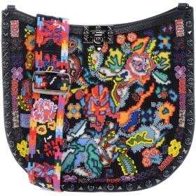 《期間限定セール開催中!》VALENTINO GARAVANI レディース メッセンジャーバッグ ブラック 革 / 紡績繊維